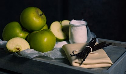 Tarte tatin ingredients - The Crown at Woodbridge